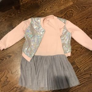 Pippa & Julie Dress and sequin jacket size 5